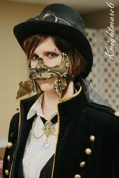 Has anyone seen this cool steampunk mask? - Imgur