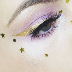 beauty, eye, and glitter