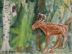 SYKSY - Päästä lintu lentoon - Vuodatus.net School Fun, Art School, Fall Arts And Crafts, 2nd Grade Art, Autumn Art, Elementary Schools, Art For Kids, Moose Art, Projects To Try