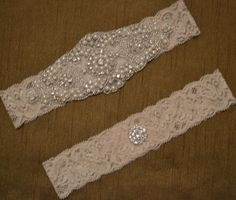 Wedding Garter Set Elegant Rhinestone and by SpecialTouchBridal, $25.99