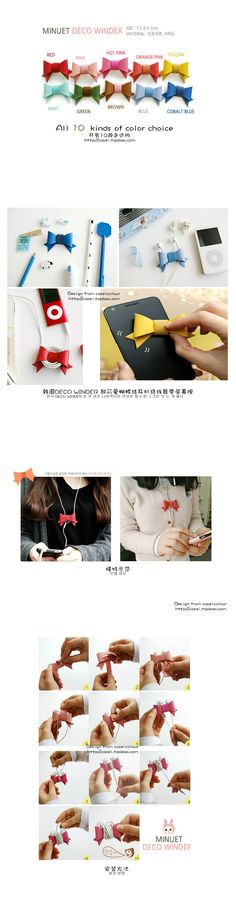 Jetoy candy color bow earphones multifunctional earphones cable winder wrapped wire device on Aliexpress.com