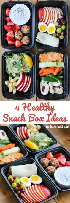 4 Healthy Snack Box Ideas - no-cook, low carb snack recipes that are prefect for busy weeks!