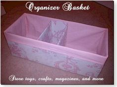Organizer Basket Video Tutorial