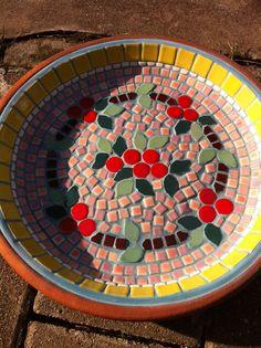 Mosaic tray terracotta