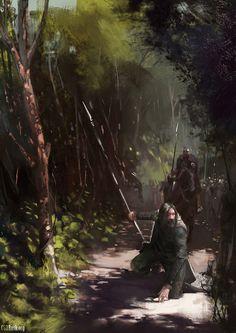 Evocative fantasy artwork by Christof Grobelski. Fantasy Story, High Fantasy, Fantasy Rpg, Medieval Fantasy, Fantasy Artwork, Roman, Scene Setters, Fantasy Forest, Falling Kingdoms