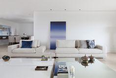 Apartamento Tupi I / Renata Popolo Arquitetura @popoloarq #living #decor #white
