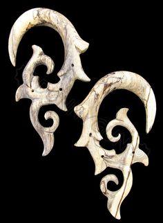 00G Pair Tamarind Wood Borneo Vines Spiral Gauges Plugs -Organic Hand Carved Body Piercing Jewelry 00 Gauge Earrings via Etsy