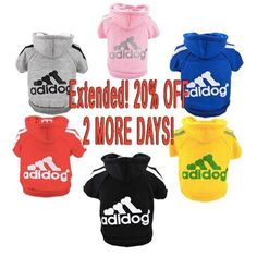 BY POPULAR DEMAND! SALE EXTENDED FOR $HOURS!  Go for looks and comfort at the same time! 20% OFF! PIMP NOW! - https://www.uberpetshops.com/produ…/doggy-sweatshirt-hoodies #pimpmydog #petbling #dogs #awesomedogs #pets #mypet #doglover #doglove #lovedogs