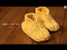 1 Hour Project: Baby Booties with Stefanie Japel. Free video tutorial and pattern