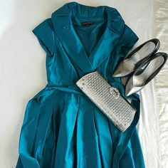 Jessica Howard dress Beautiful teal dress for a wedding or church function. Has a removable belt around waist. Jessica Howard Dresses