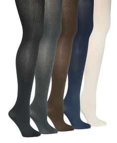 Hue Control Top Ribbed Sweater Tights