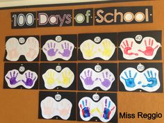 Atelier (Reggio) 100 Days of School- with Velcro #'s underneath to add each day :)