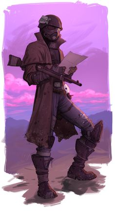 Desert Ranger by Jedi-Art-Trick on DeviantArt Fallout Fan Art, Fallout Concept Art, Apocalypse, Character Concept, Character Art, Ncr Ranger, Fallout Cosplay, Bioshock Cosplay, Armor Concept