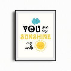 You are my sunshine wall art set of 2 printables