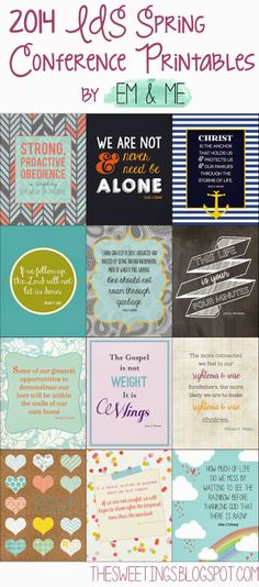 2014 LDS General Conference printables (free!)