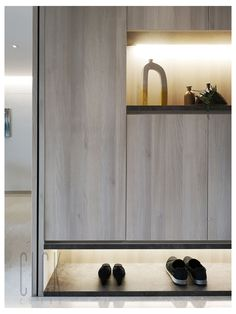 Shoe Cabinet #shoe #cabinet #design #modern Shoe Cabinet Design from CLCK colab. Like what you see? Contact us or Follow us for more Designs for your home! Shoe Cabinet Design, Shoe Storage Cabinet, Shoe Room, Small Apartment Interior, Living Room Cabinets, Foyer Design, Rack Design, Up House, Inexpensive Furniture