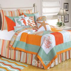 Fiesta Key Deluxe Bedding Set...love this.....Makes you feel like your at the beach everyday!