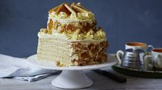 Mary's twist on this Hungarian cake has a full twelve layers in two tiers and is covered in caramel buttercream.   Equipment and preparation: You will need a piping bag fitted with a medium size star nozzle.