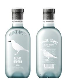 White Crow vodka bottle  #Packagingdesign #design #bottle