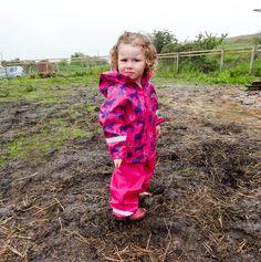 Wet Wednesdays Purple Horses Waterproof Rain Set