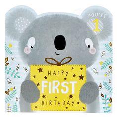 Platinum Collection 1st Birthday Card - Cute Koala | Card Factory