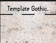 "Check out new work on my @Behance portfolio: ""Template Gothic"" http://be.net/gallery/52184813/Template-Gothic"