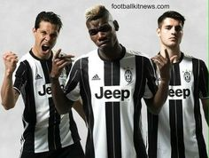 The new Juventus home kit reinterprets the traditional black & white stripes of the Juventus kit, with the former dominating the scene. The Juventus jersey was launched on May 14 Pogba Manchester, Manchester United, Football Kits, Sport Football, Adidas Presents, World Soccer Shop, Football Fashion, Juventus Fc, Team Wear