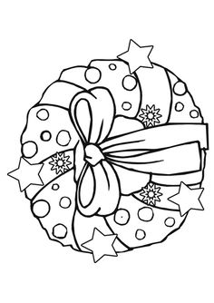 Free Online Wreath Colouring Page