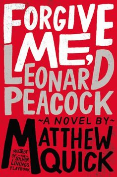 Forgive me, Leonard Peacock by Matthew Quick // A fucked up book written brilliantly if I ever read one. Ya Books, Good Books, Books To Read, Roman, Reading Lists, Book Lists, Reading Time, Happiness Therapy, All The Bright Places