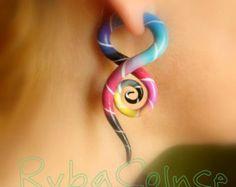 Fake Ohr-Gauge Faux Spurweite/Gauge Ohrringe / von RybaColnce