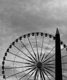Paris Photography Ferris Wheel Minimalist Wall by DepartFashion