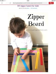 Zipper board