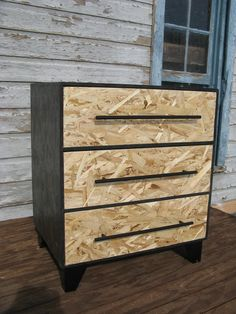 modular OSB dresser with black bar pulls by modosb on Etsy. $169.00, via Etsy.