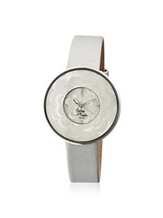 Sophie and Freda Women's SF1101 Venice Silver/White Leather Watch