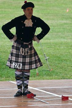 Kilt on male dancer #MacPherson #Black #Tartan