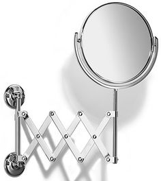 Pic On Samuel Heath Curzon Extending x x Reversible Pantograph Wall Makeup Mirrors seattleluxe
