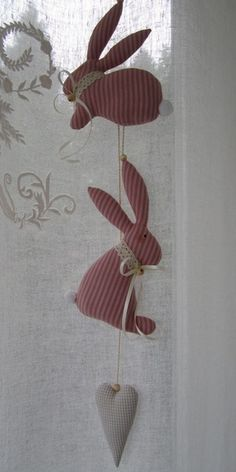 Osterhasen - Osterhasen - Girlande im Landhaus-Stil- Dekoration - ein Designerstück von Feinerlei bei DaWanda