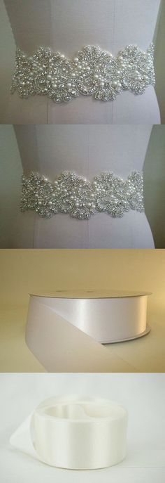 Other Bridal Accessories 106128: Wedding Bridal Sash Belt, Crystal Pearl Wedding Dress Sash Belt -> BUY IT NOW ONLY: $30.64 on eBay!