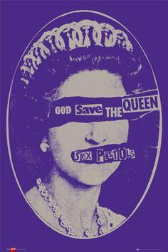 Affiche SEX PISTOLS god save the queen: achetez le poster SEX PISTOLS god save t