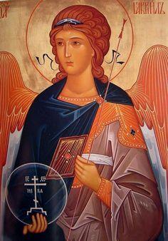 Gabriel we love you! Byzantine Art, Byzantine Icons, Religious Icons, Religious Art, Greek Icons, Biblical Art, Archangel Michael, Jesus Pictures, Catholic Art