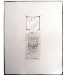 'Post-Partum Document', Mary Kelly