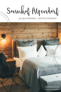 Mit nur 39 Zimmern & Suiten sorgt der Sonnhof für ein hohes Maß an Privatsphäre. Alle Unterkünfte wurden im Jahr 2017/18 komplett neu gestaltet. Jedes Zimmer hat einen Balkon mit Ausblick auf die Berge des #SalzburgerLand. #visitaustria #urlaubinösterreic Hotel Berg, Adventure Is Out There, Bed Pillows, Pillow Cases, Bedroom, Places, Home, Trips, Scandinavian Design