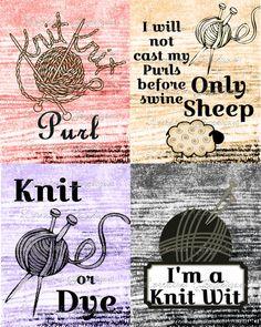 1000+ images about Scrapbooking - knitting on Pinterest Knitting, Vintage k...