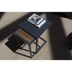 Mesa auxiliar en tubo acerado y chapa de acero Fuller