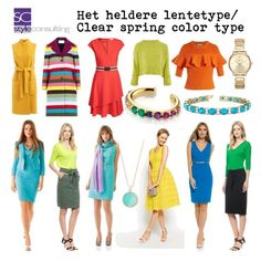 """""""Het heldere lentetype/ Clear spring color type."""" By Margriet Roorda-Faber, Style Consulting."""
