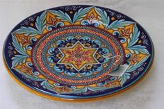 SBERNA-DERUTA-LARGE-ROUND-FOOTED-CENTERPIECE-BOWL-MADE-IN-ITALY-NEW