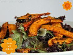 Hokaido Kürbis Pommes Salat vegan - Freude am Kochen
