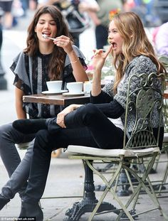 Behati Prinsloo Photos - Victoria's Secret model Behati Prinsloo poses for a fashion shoot with Sheila Marquez on May 2013 in New York City, New York. - Behati Prinsloo and Sheila Marquez Pose in NYC — Part 2 Coffee Shot, I Love Coffee, Coffee Time, Coffee Break, Latte, Morning Joe, Morning Coffee, Coffee With Friends, Handbags Online Shopping