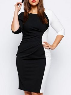 Assorted Colors Plus Size Bodycon Dress Plus Size Bodycon Dresses from fashionmia.com