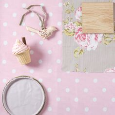 Pink & taupe...girls room